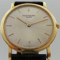 Patek Philippe Calatrava Vintage 3520 18k Yellow Gold Silver...