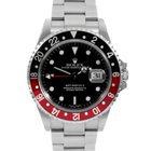 "Rolex Mens SS GMT-Master II - Black Dial / ""Coke""..."