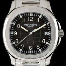 Patek Philippe S/S Unworn Black Dial Jumbo Aquanaut B&P...