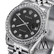 ロレックス (Rolex) Ladies Rolex Datejust 26 Mm Black Dial Jubilee...