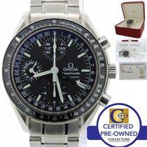 Omega Speedmaster Triple Date Black Chronograph  Mk 40 Steel...