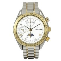 Omega Speedmaster Classic Triple-Date Moonphase Gold/Steel...