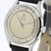 Omega Turler Vintage Watch Stainless Steel Auto Bumper Cal....