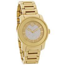 Movado Bold Ladies Champagne Crystal Dial Swiss Quartz Watch...