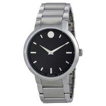 Movado Gravity Black Carbon Fiber Dial Men's Watch