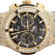 Hublot Mens 45 MM Hublot Classic Fusion Pele 18k Yellow Gold...