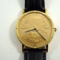 "Corum $20 US Double Eagle Liberty ""1900"" coin watch..."
