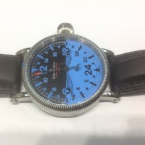 """Chronoswiss Timemaster 24H """"Blue Ray""""in stainless steel"""