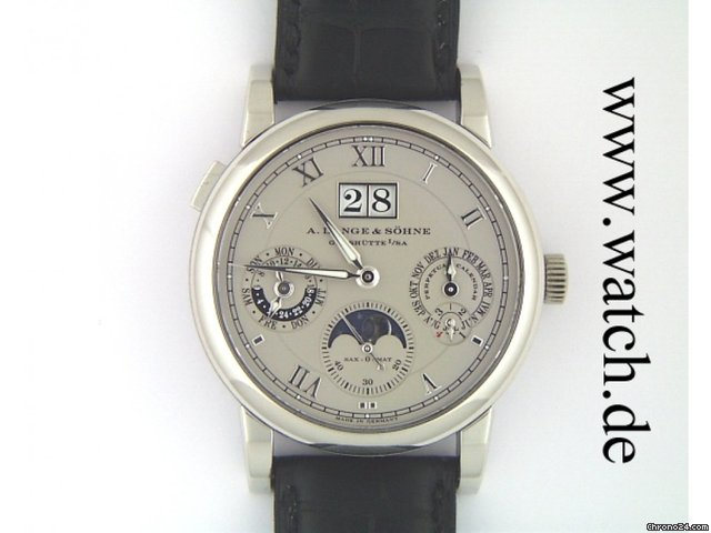 A. Lange &amp;amp; Shne Langematic Perpetual 950 Platin 38mm