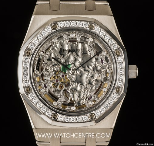 Audemars Piguet 18k W/G RO Skeleton 14811BC.OO.0944BC.01
