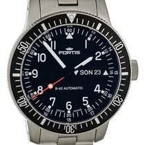 Fortis B-42 Official Cosmonauts Day Date Stahl Automatik 42mm
