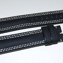 Lederband schwarz  für Dornschließe
