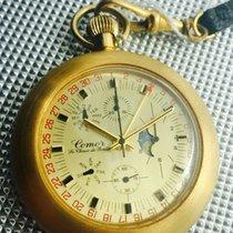 Comor rare and very complex pocket chronograph triple calendar...