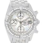 Breitling Windrider Cockpit Mother Of Pearl Diamond Watch A13357