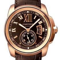 Cartier Calibre De Cartier 18k Rose Gold Brown Dial W7100007