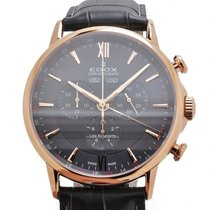 Edox Les Bémonts Chronograph Complication Watch 10501 37R GIR
