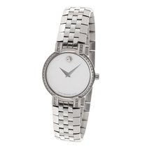 Movado 84 a1 1845s Diamond Bezel Mother of Pearl Stainless...