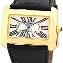 "Cartier ""Tank Divan"" Automatic Strapwatch."