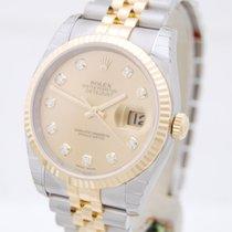 Rolex Datejust Stahl/Gold Diamant-ZB Box & Papiere 2016