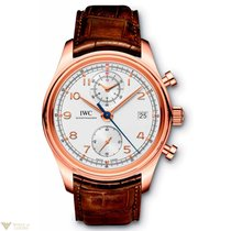 IWC Portuguese Chronograph Classic Red Gold Silver Dial Men`s...