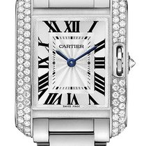 Cartier Tank Anglaise SMALL 18kt White Gold DIAMOND wt100008