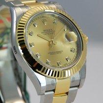 Rolex DateJust II 2 Two Tone 18kt Yellow Gold/SS Diamond...