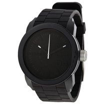 Diesel Color Domination Black Dial Black Silicone Unisex Watch...