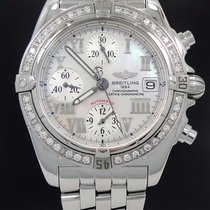 Breitling Windrider Cockpit Chrono Factory Diamond Bezel Mop...