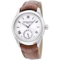 Frederique Constant Silver Dial Leather Strap Men's Watch...