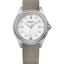 Ebel Wave Lady Calfskin Bracelet, Diamond Index