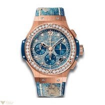 Hublot Big Bang 41 MM Jeans Automatic Chronograph 18K Red Gold...