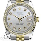 Rolex Women`s Rolex 26mm Datejust 2 Tone White Mop Mother Of...