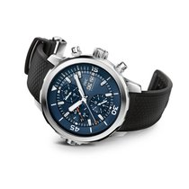 IWC [NEW] Aquatimer Chronograph Blue Dial Black Rubber IW376805