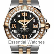 Breitling Galactic 30 in 2 Tone with Diamond Bezel