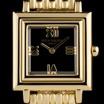 Patek Philippe 18k Yellow Gold Black Dial Gondolo 4866J-001