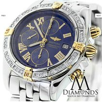Breitling B13356 Chronomat Evolution 18k Gold/ss Watch With...