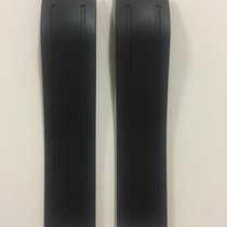 Tiffany Black Rubber Strap 20 x 19 mm