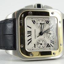 Cartier Santos 100XL chronograph (steel/gold) Full set