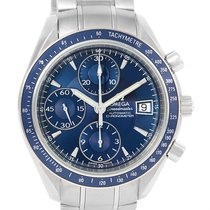 Omega Speedmaster Date Blue Dial Steel Watch 3212.80.00 Box...