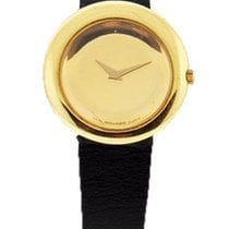Movado Ladies Pre-Owned 18K Yellow Gold Dress Watch - Leather...