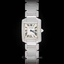 Cartier Tank Francaise 18K White Gold and Factory Original...