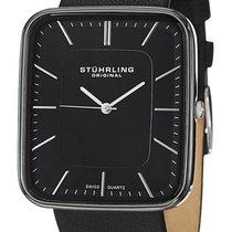 Stuhrling Black Ceramic Quartz Watch 437.33OB1