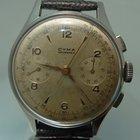 Cyma Tavannes chronograph vintage steel case