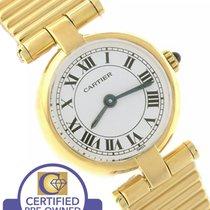 Cartier Paris Rivoli 18K Yellow Gold White Quartz 19.50mm Watch