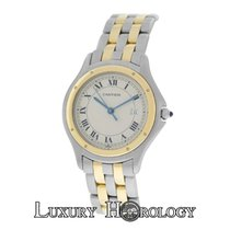 Cartier Unisex Cartier Cougar Panthere 187904 Two Row 18K Gold...