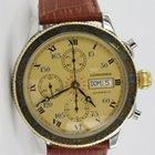 Longines Lindbergh Hour Angle Chronograph Stahl / Gold