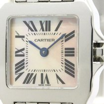 Cartier Polished Cartier Santos Demoiselle Pink Mop Dial...