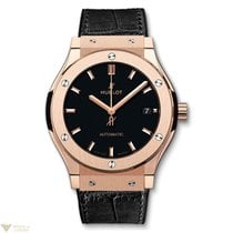 Hublot Classic Fusion Automatic 18K Rose Gold Rubber Men's...