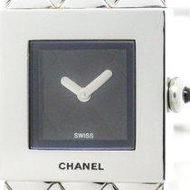 Chanel Polished Chanel Matelasse Stainless Steel Quartz Ladies...