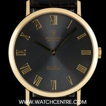 Rolex 18k Y/Gold Grey Roman Dial Cellini Gents Wristwatch...